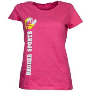 Bruder Sports Organic T-Shirt Logo auf der front Seite for Women